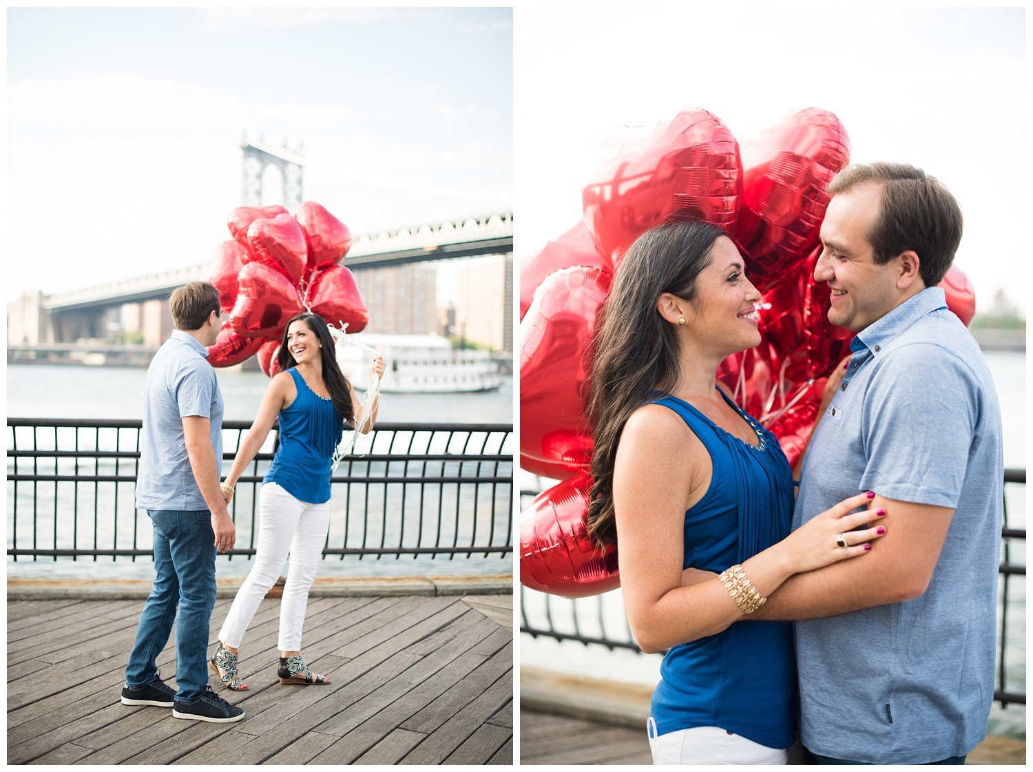 Brooklyn Engagements | Brooklyn Bridge Park | NYC | www.redoakweddings.com