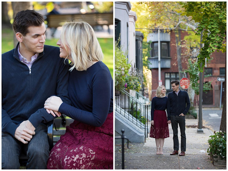 Philadelphia Engagements | Fitler Square, Pennsylvania | Philly Weddings | www.redoakweddings.com