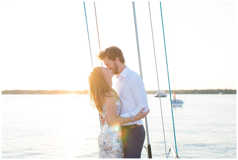 Yacht Engagement Session | Rye, NY | Westchester Weddings | www.redoakweddings.com