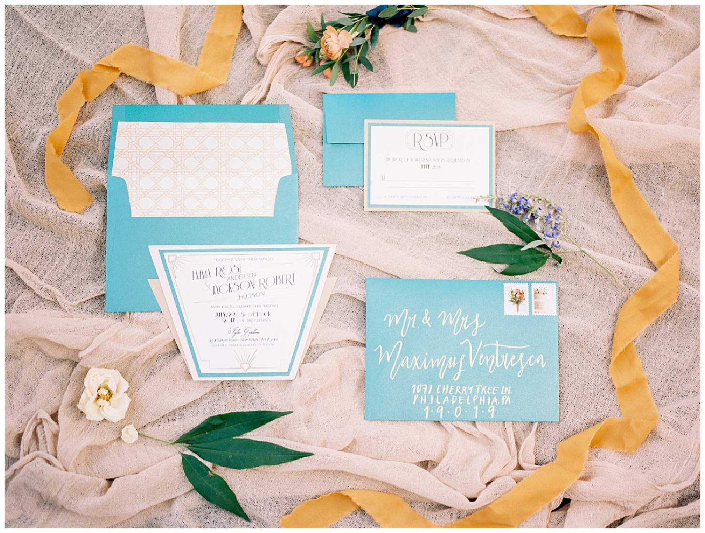 Art Deco Garden Wedding Inspiration   Tyler Gardens   Newton, PA   www.redoakweddings.com