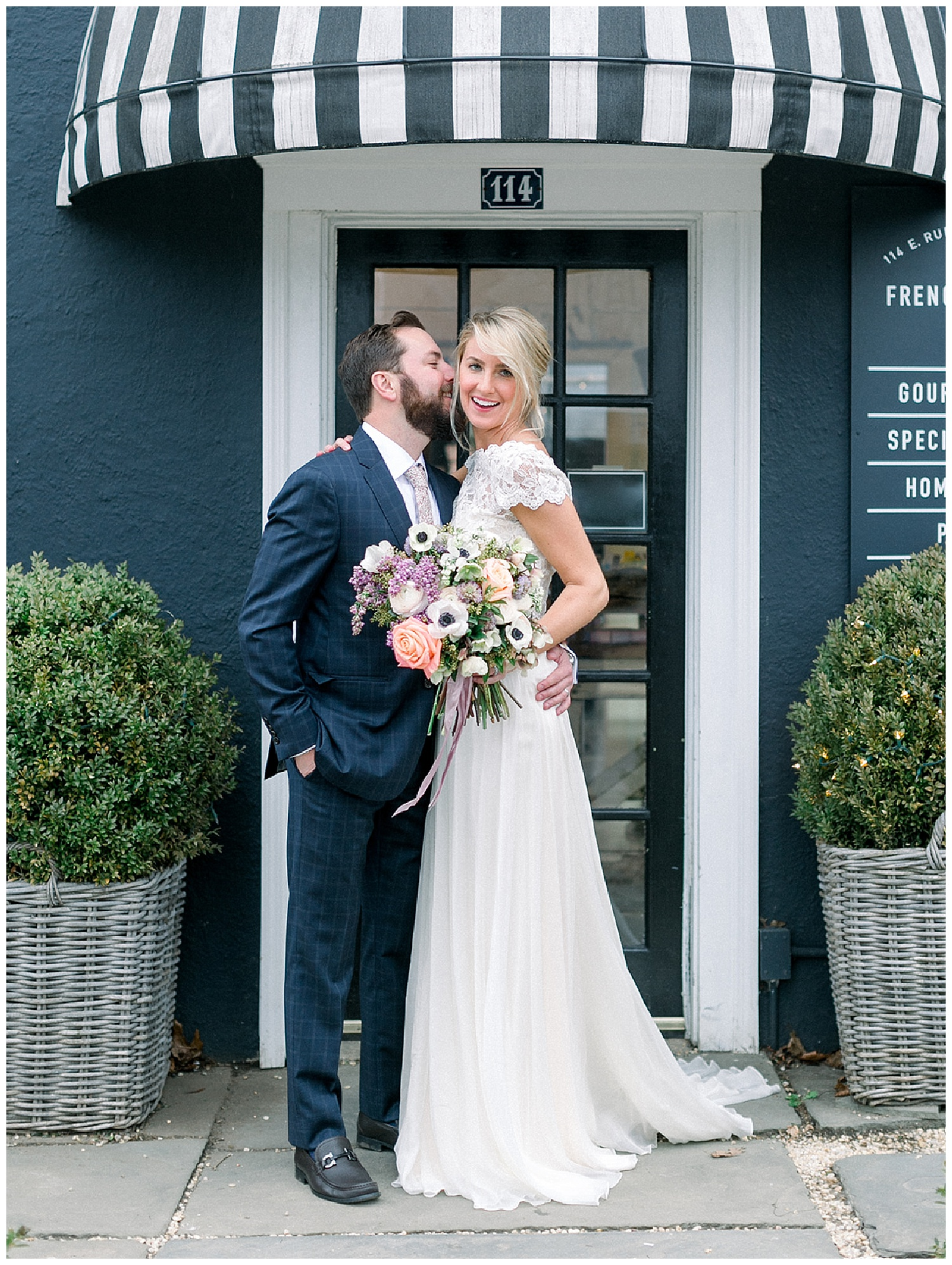 Intimate Engagement Celebration | The French Market | Rumson, NJ | www.redoakweddings.com