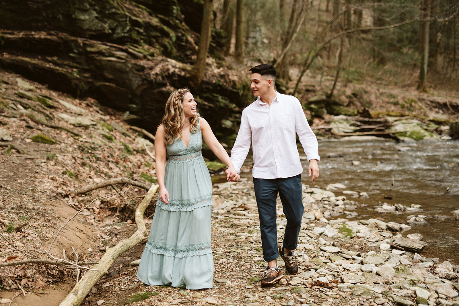 Engagement session at Tucquan Glen Nature Preserve.