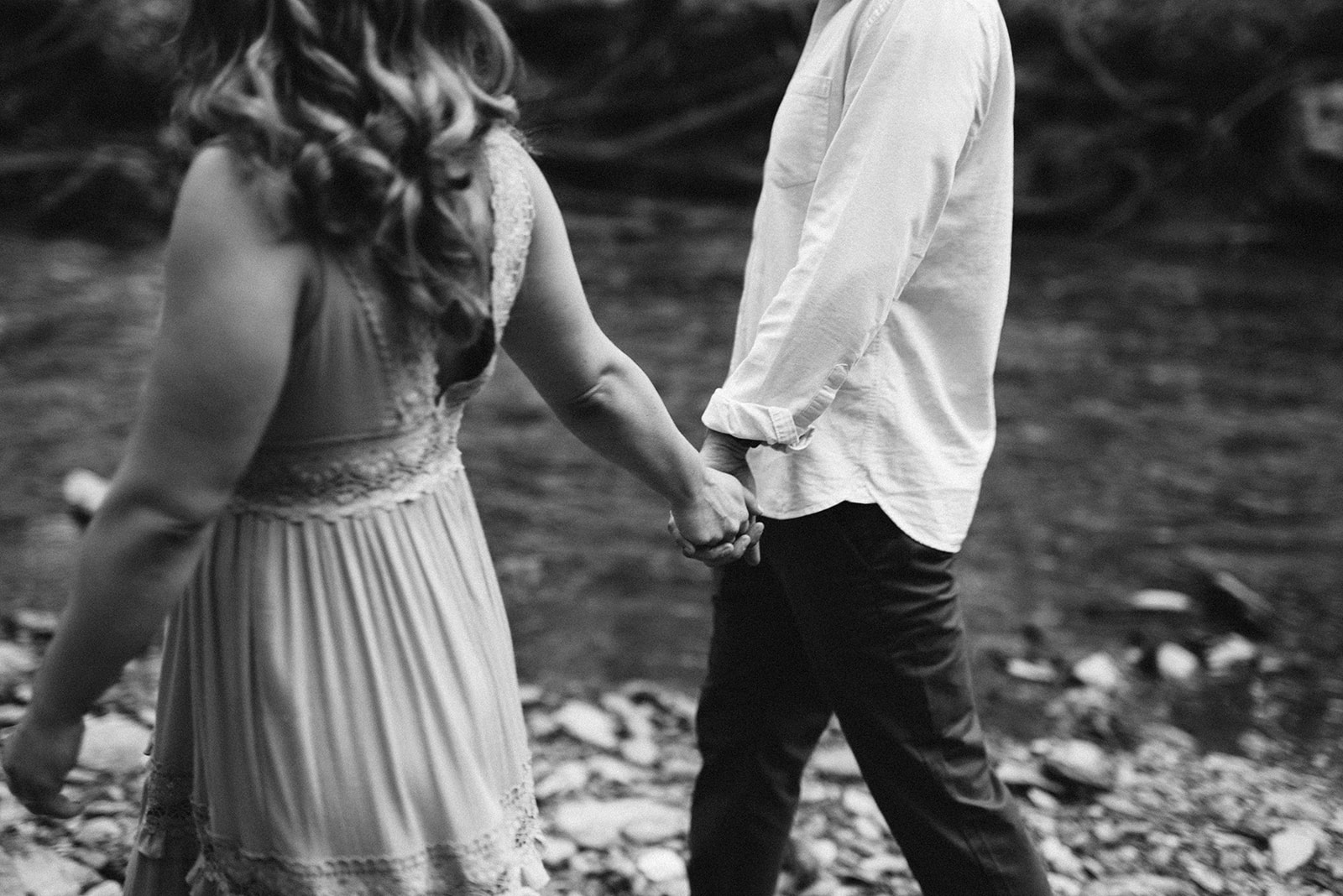 Black and white photo from an engagement session in Lancaster Pennsylvania.