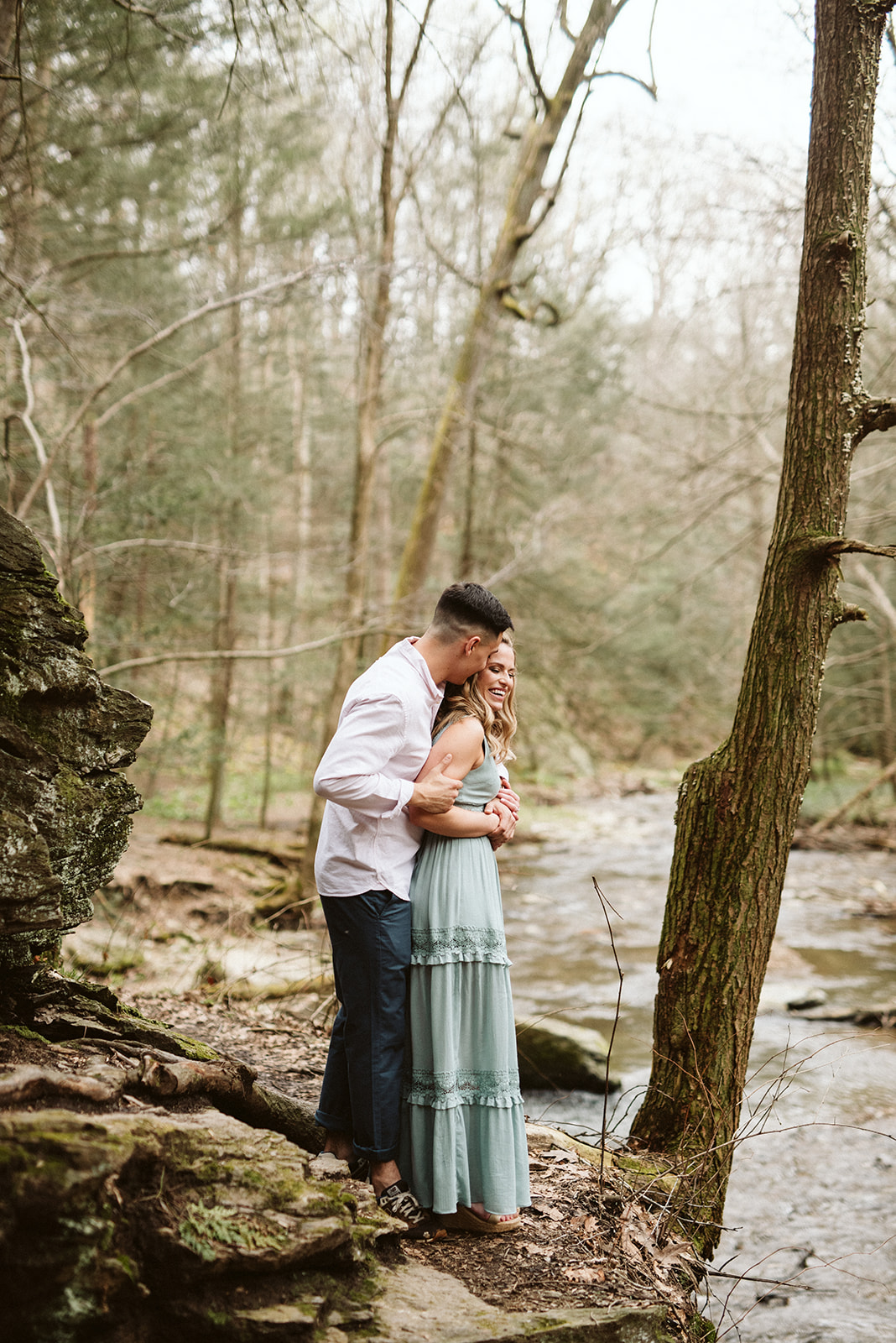 Adventurous outdoorsy engagement session at Tucquan Glen.