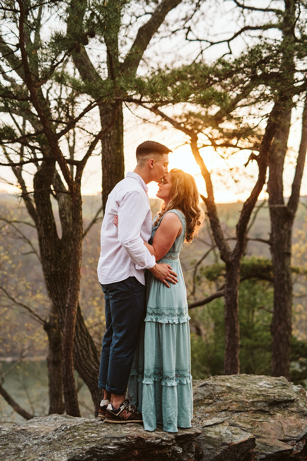 Adventurous engagement session at Pinnacle Overlook in Holtwood Pennsylvania