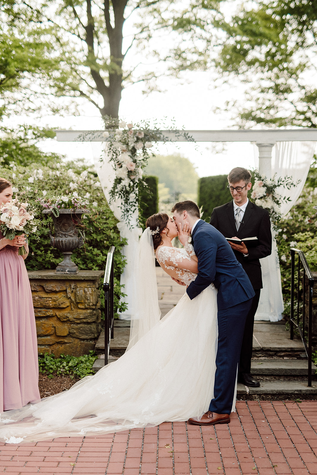 First kiss as husband and wife at Drumore Estate!