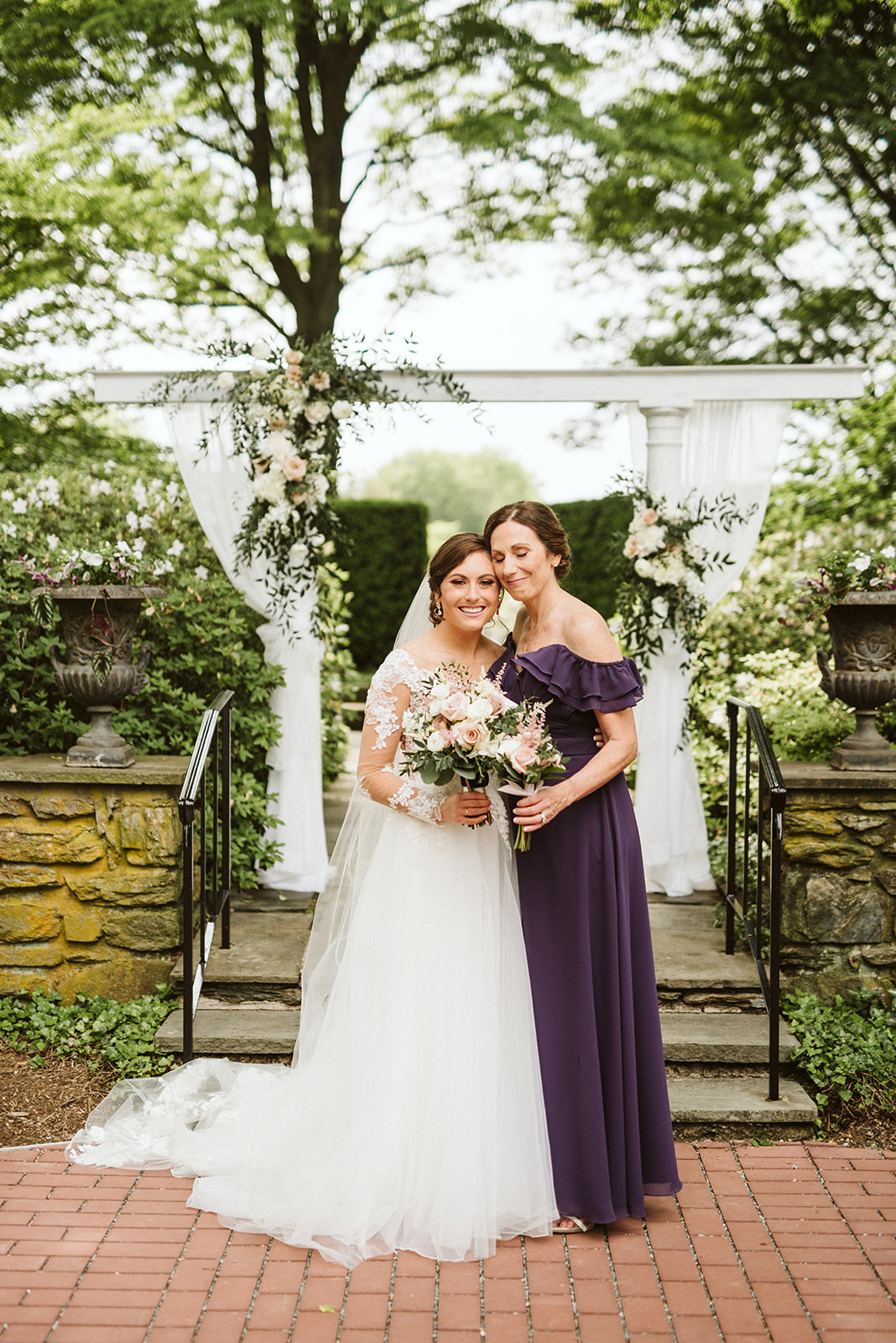 Jana and her mother after her wedding ceremony at Drumore Estate.