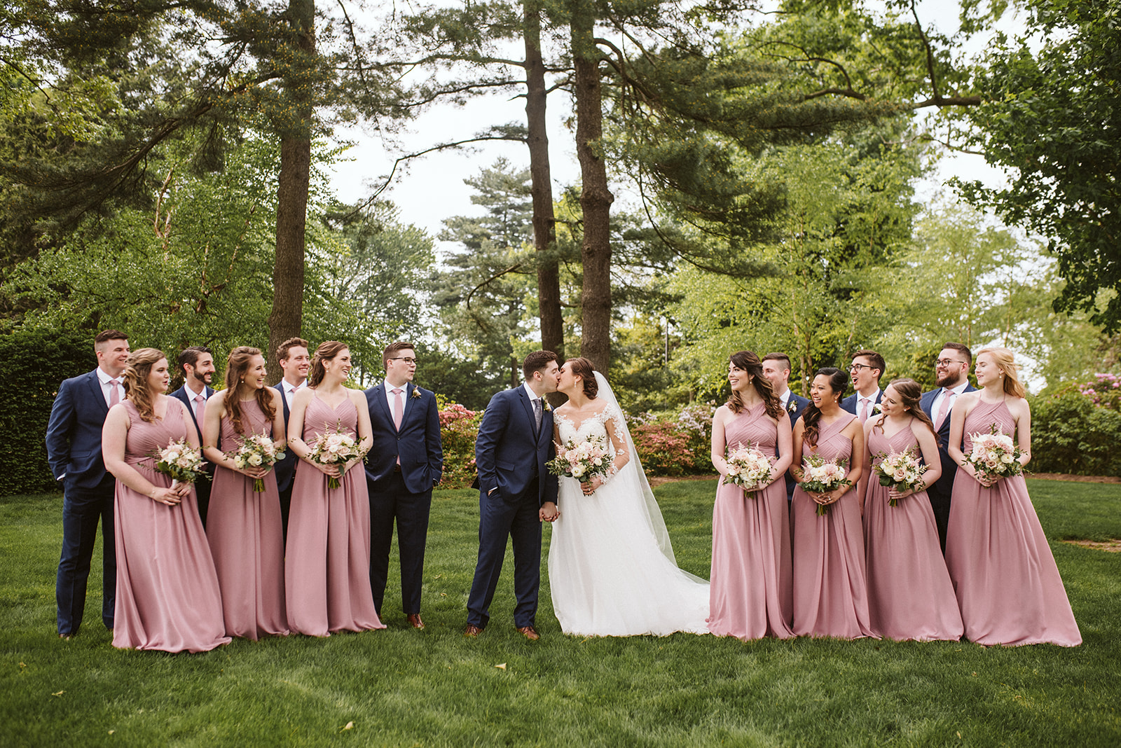 Mauve and navy spring wedding at Drumore Estate.