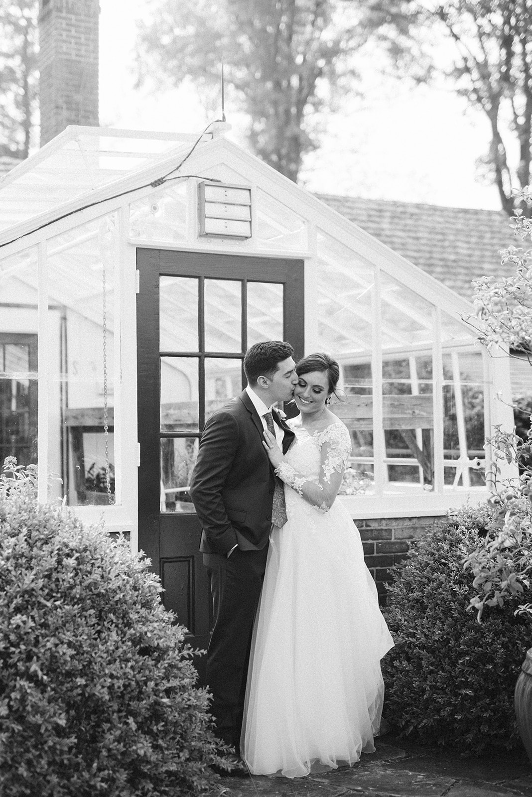 Drumore Estate wedding venue has a greenhouse structure that is perfect for portraits!