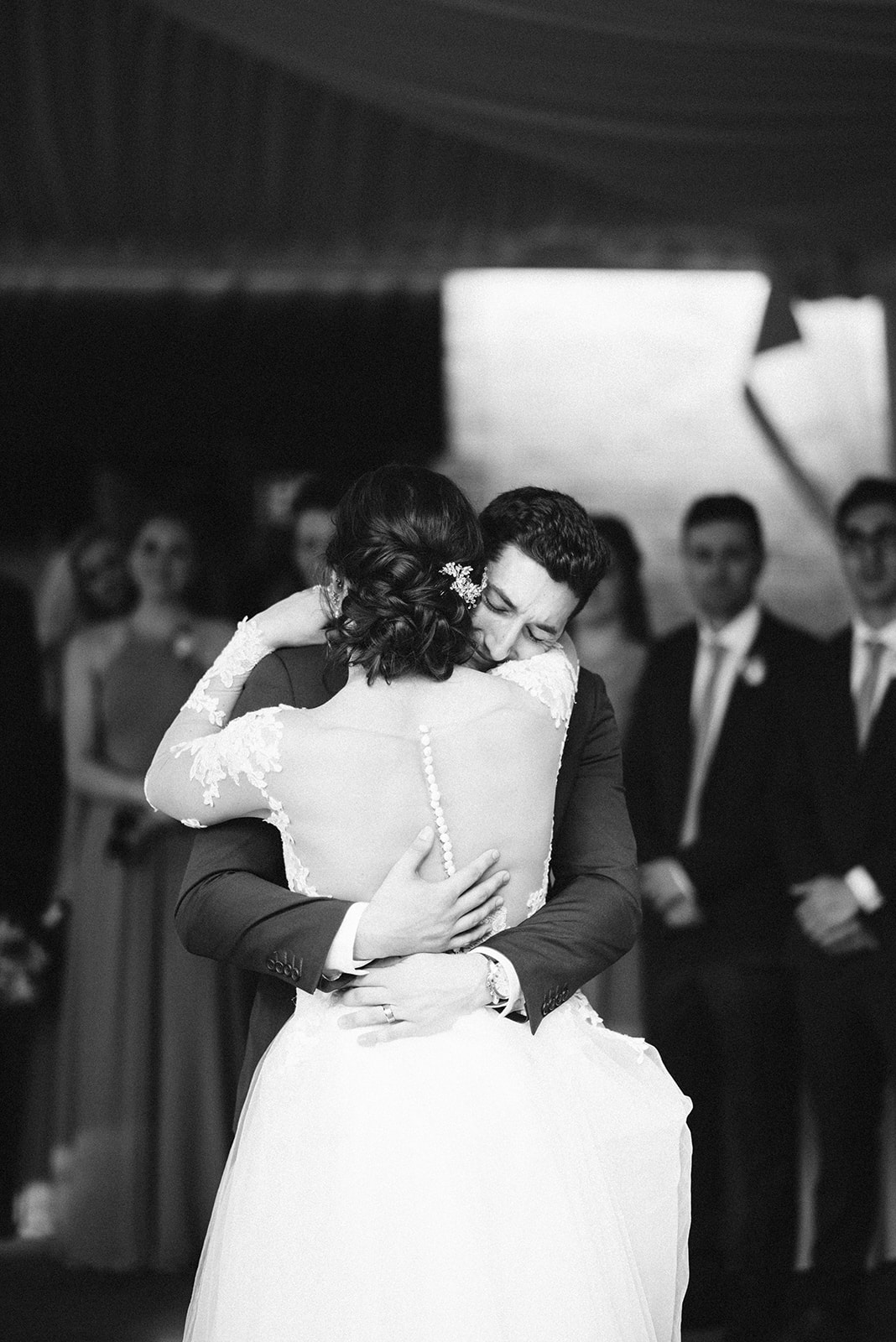 An emotional first dance at Drumore Estate.