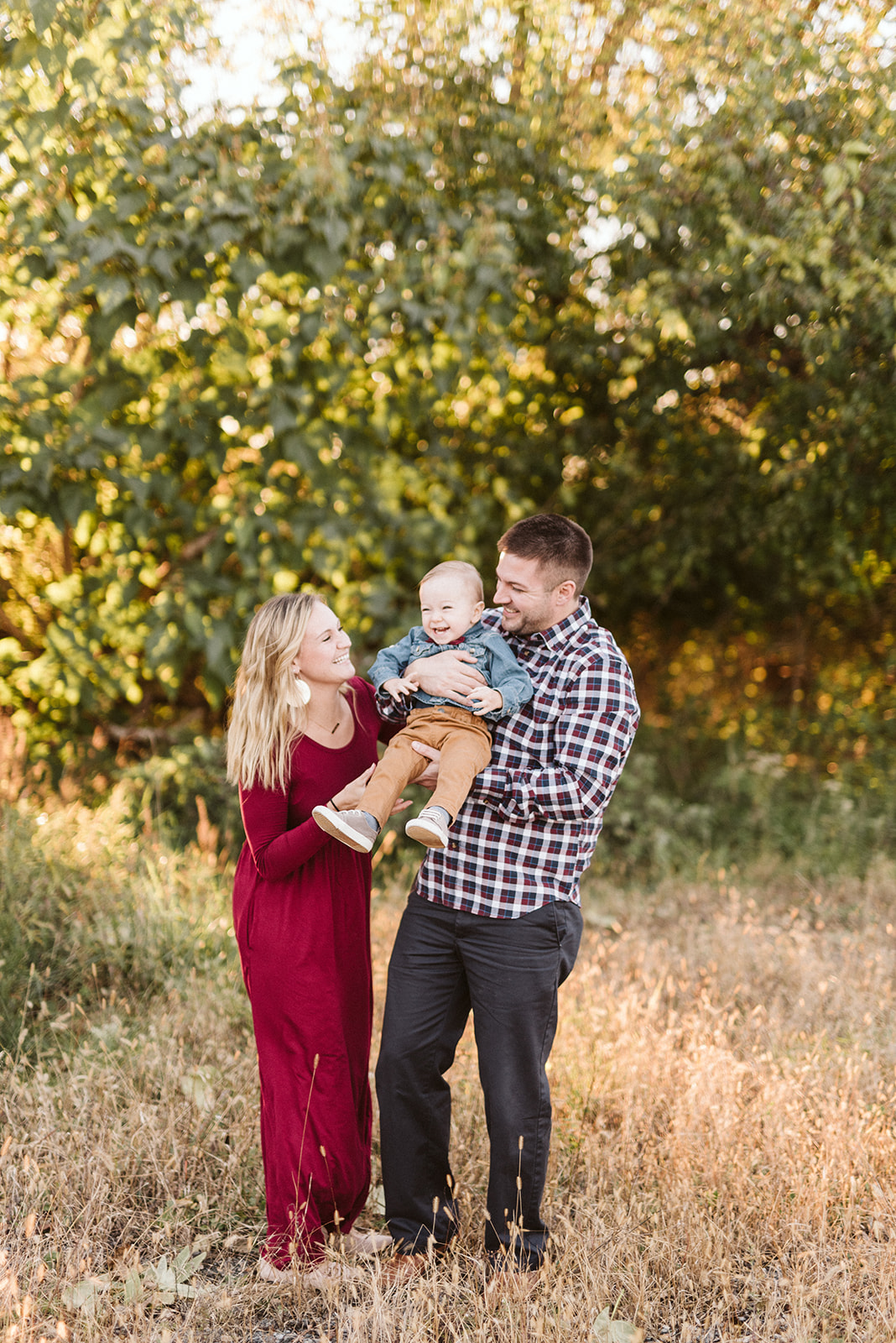 Sunset family session at Lancaster County Central Park.