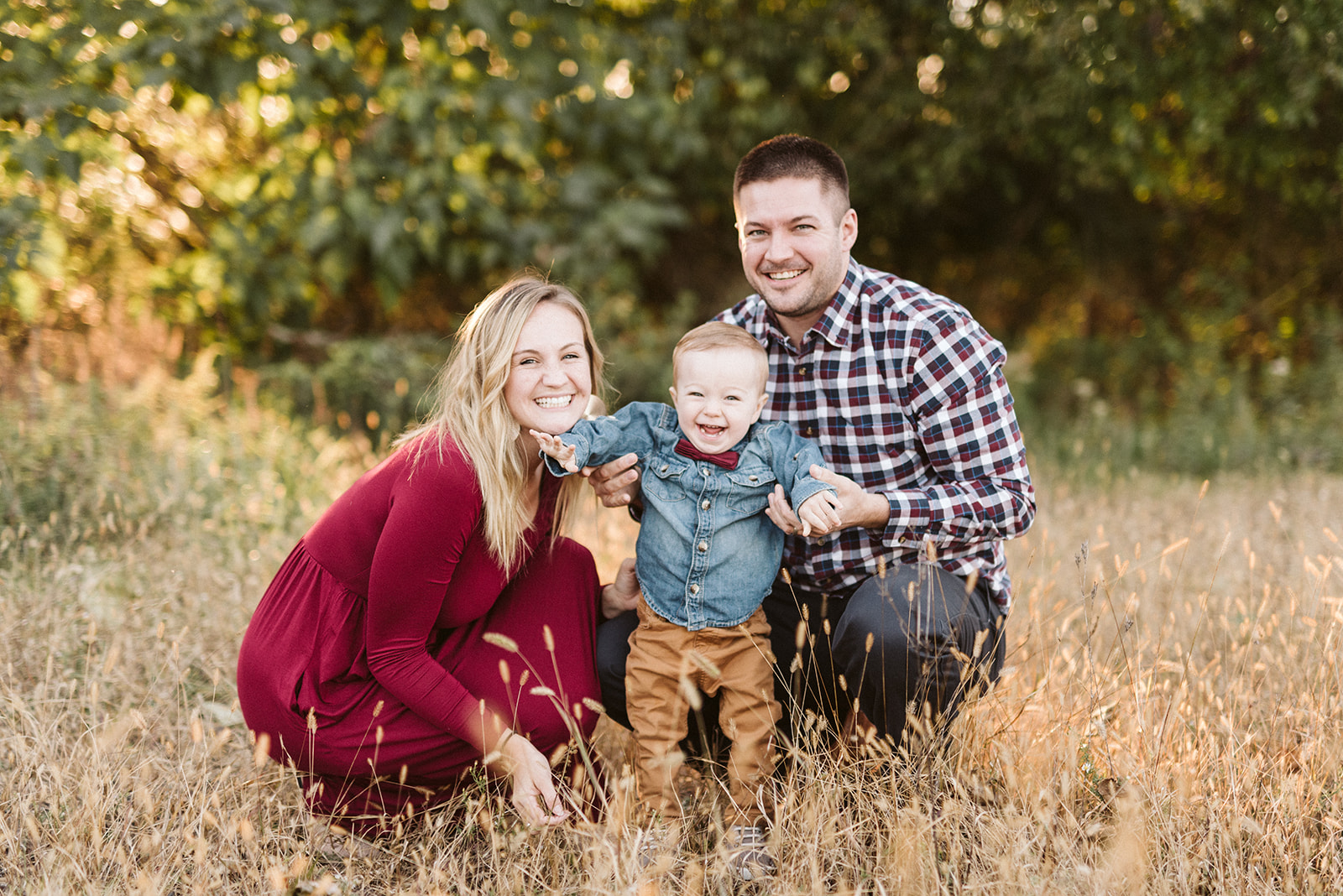 Fall family photos in Lancaster County Central Park.