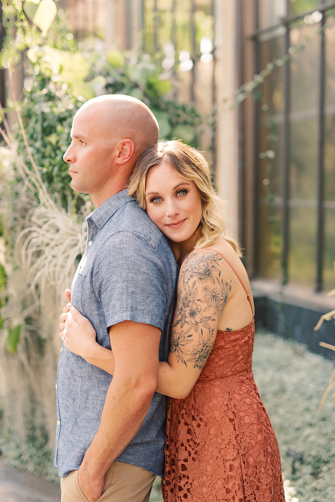 Garden-inspired engagement session at Longwood Gardens.