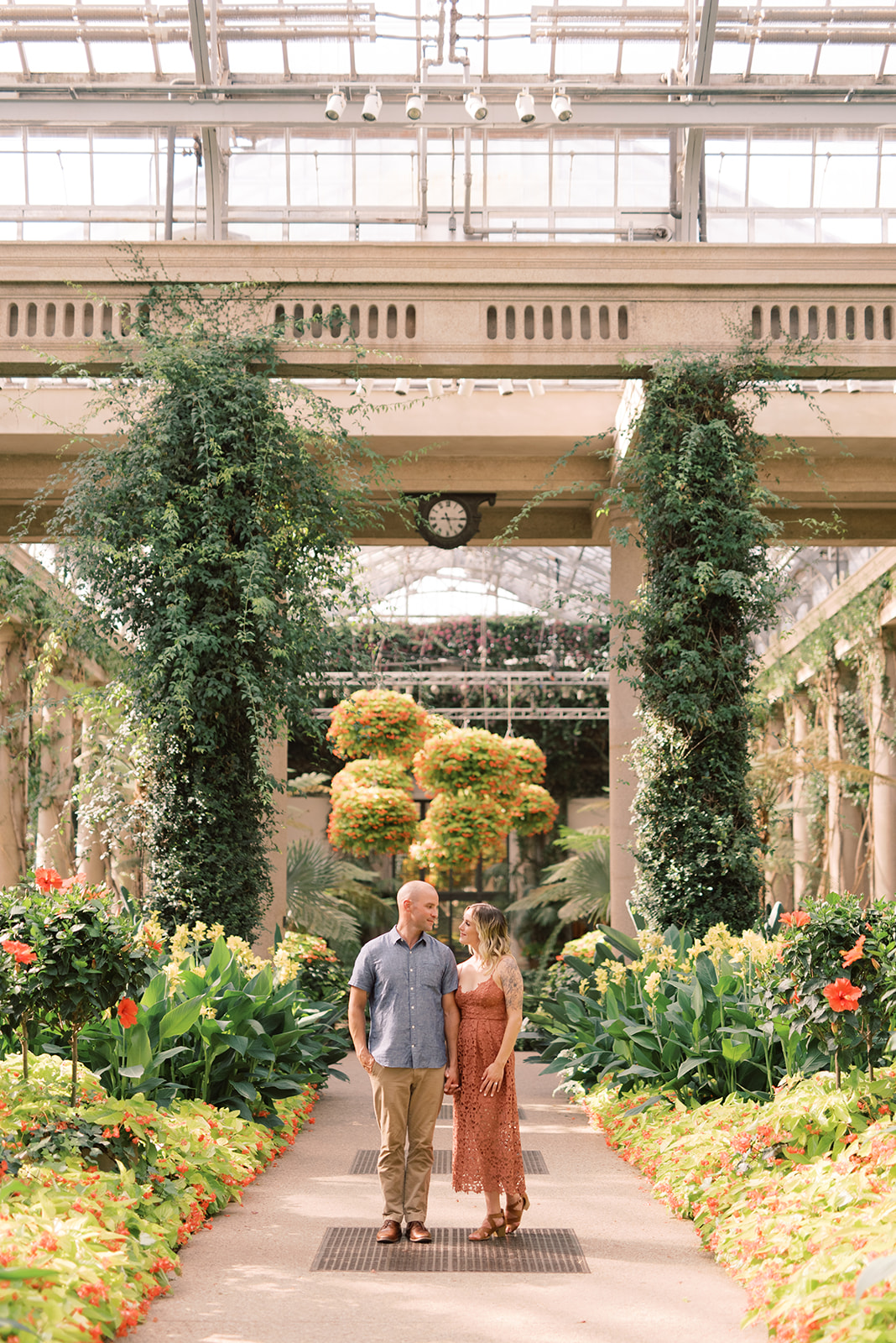 Engagement session at Longwood Gardens.