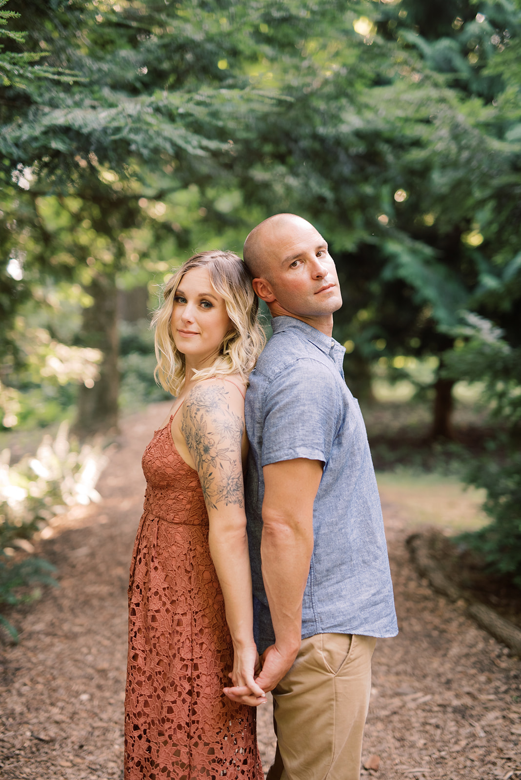 Pierce's Woods engagement session at Longwood Gardens.