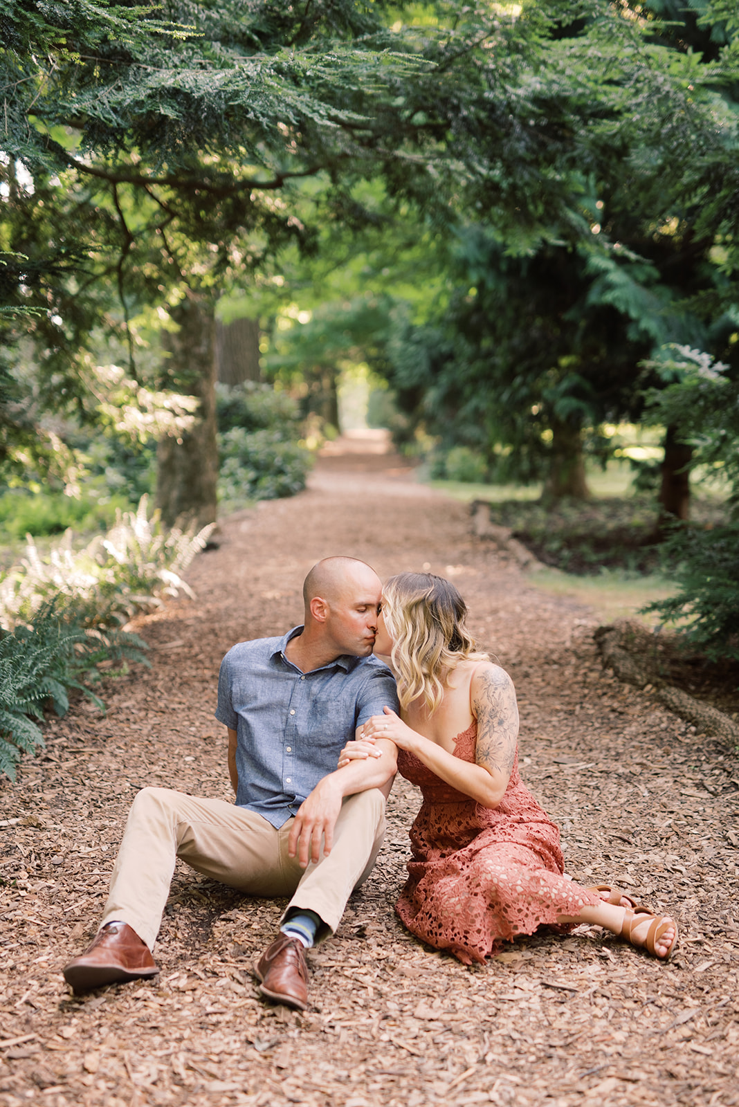 Longwood Gardens woodland engagement session.