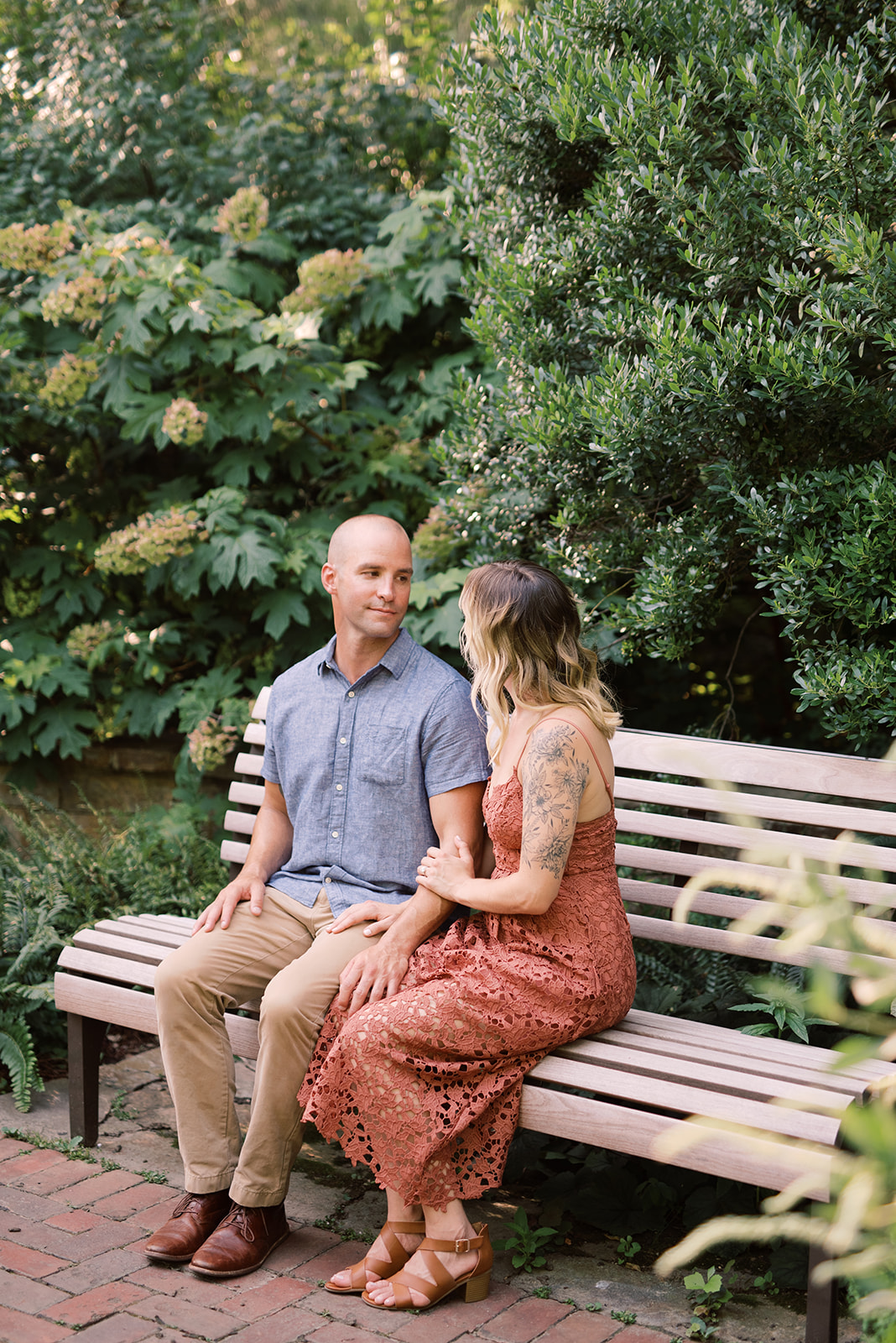 Engagement photography at Longwood Gardens.