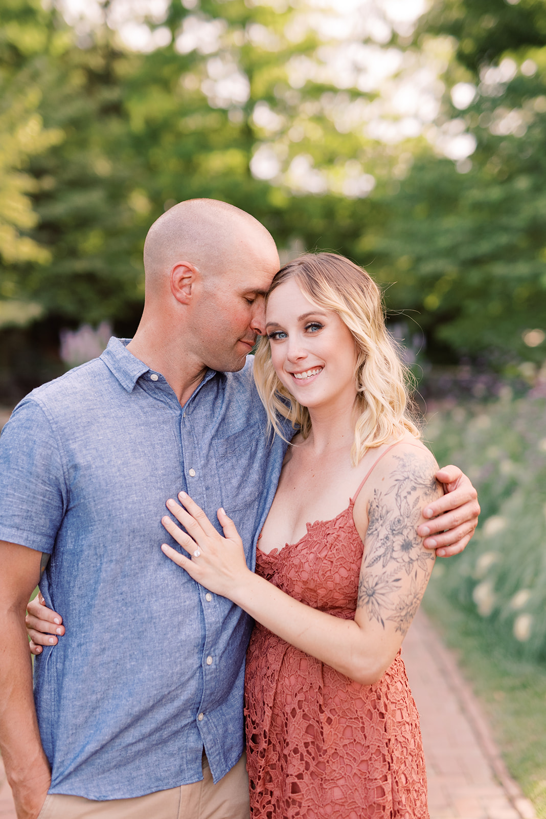 Engagement photos at Longwood Gardens.