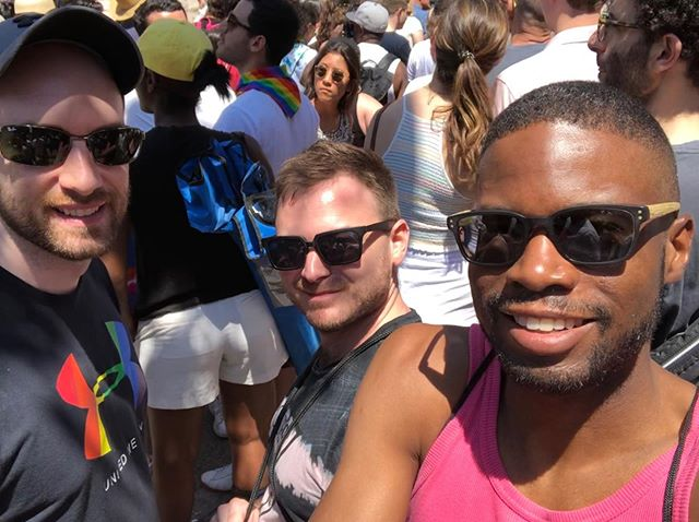 So Many People!! But so happy to be celebrating #worldpride in New York with friends! #gay #lgbt #pride . . . .  #primeshots #instamagazine_ #instagoodmyphoto #visualambassadors #folkgood #peopleinframe #highsnobiety #createyourhype #streetmobs #thecreative #quietthechaos #seemycity #yngkillers  #nycprimeshot #what_i_saw_in_nyc #ig_nycity #ig_great_shots_nyc #iphoneography #iphoneonly #iphonesia #focalmarked