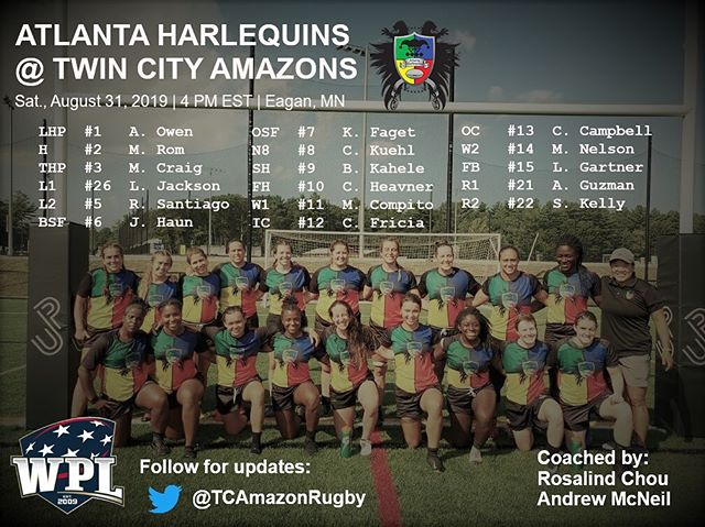 Here is the squad looking to #bringthebeef against @tcamazonsrugby on the road tomorrow @ 4 PM EST/3 PM CT! Link in bio for the twitter feed with game updates. #ahwrfc #atlquins #atlrugby #wrugby #usarugby #WPLrugby #theclimb