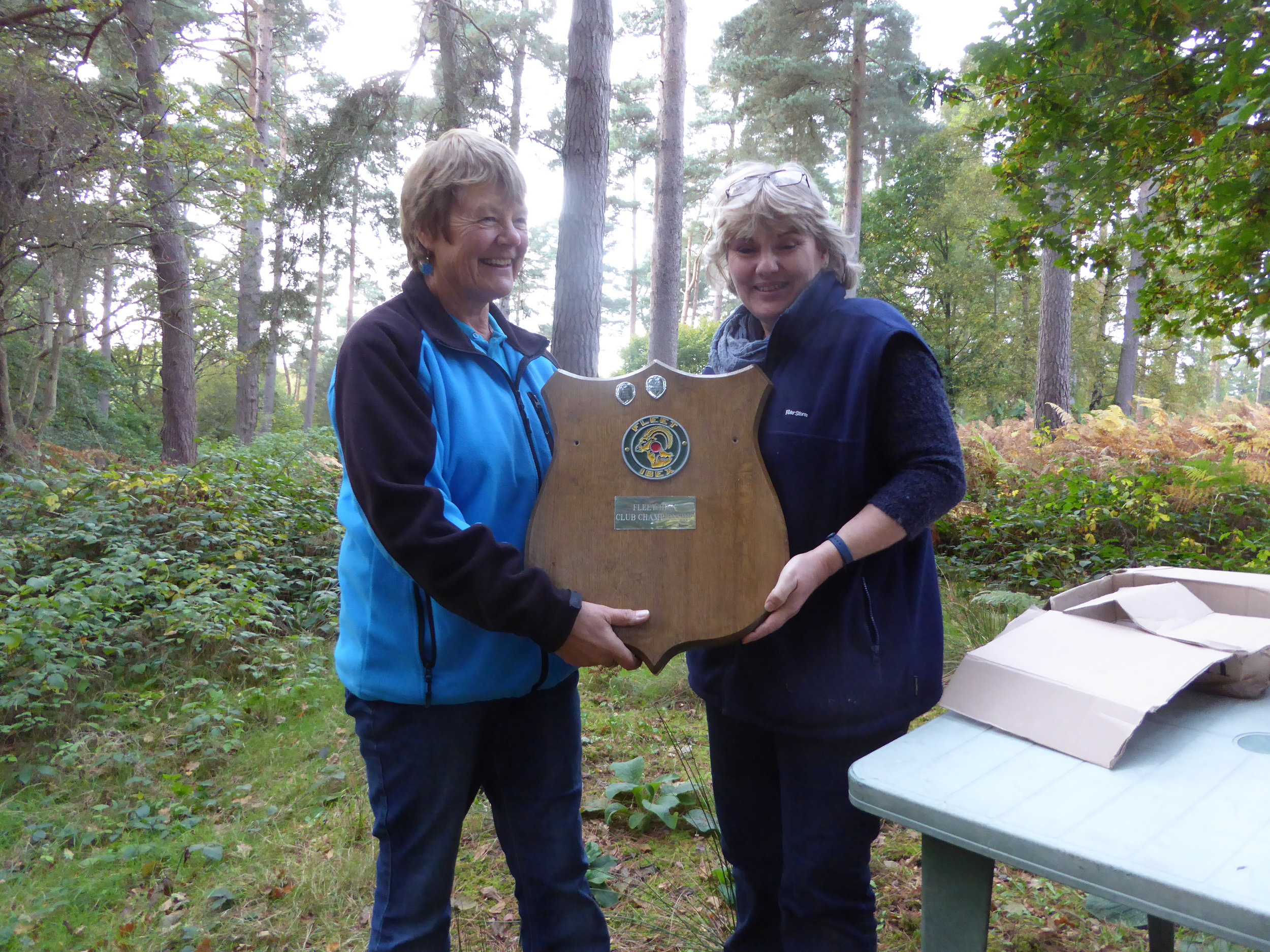 "Georgie being awarded the shield by our ""Lady P"" of the day - Helen Strudwick"