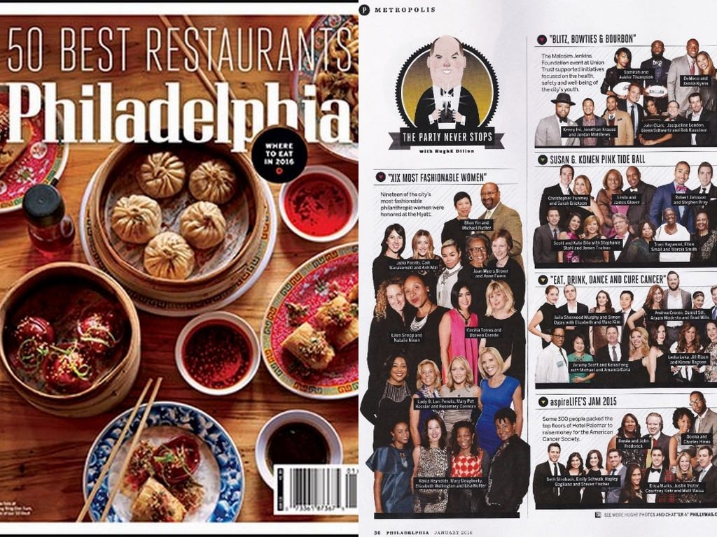 "AS SEEN IN: Philadelphia Magazine   This was a fun way to kick off the new year! Thank you Hugh E. Dillon for including me in your ""Metropolis"" column of   Philadelphia Magazine.    January 2016 / print edition  See accompanying story in phillymag.com  ""The Scene""  October 2015"