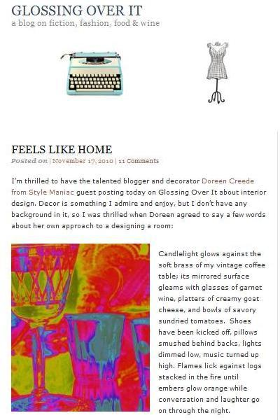 """GUEST POST   Glossing Over It     """"Feels Like Home""""     11/17/10"""