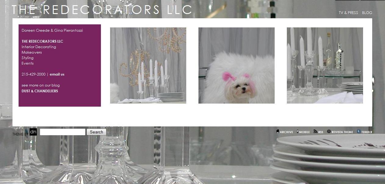 redecorators website screenshot