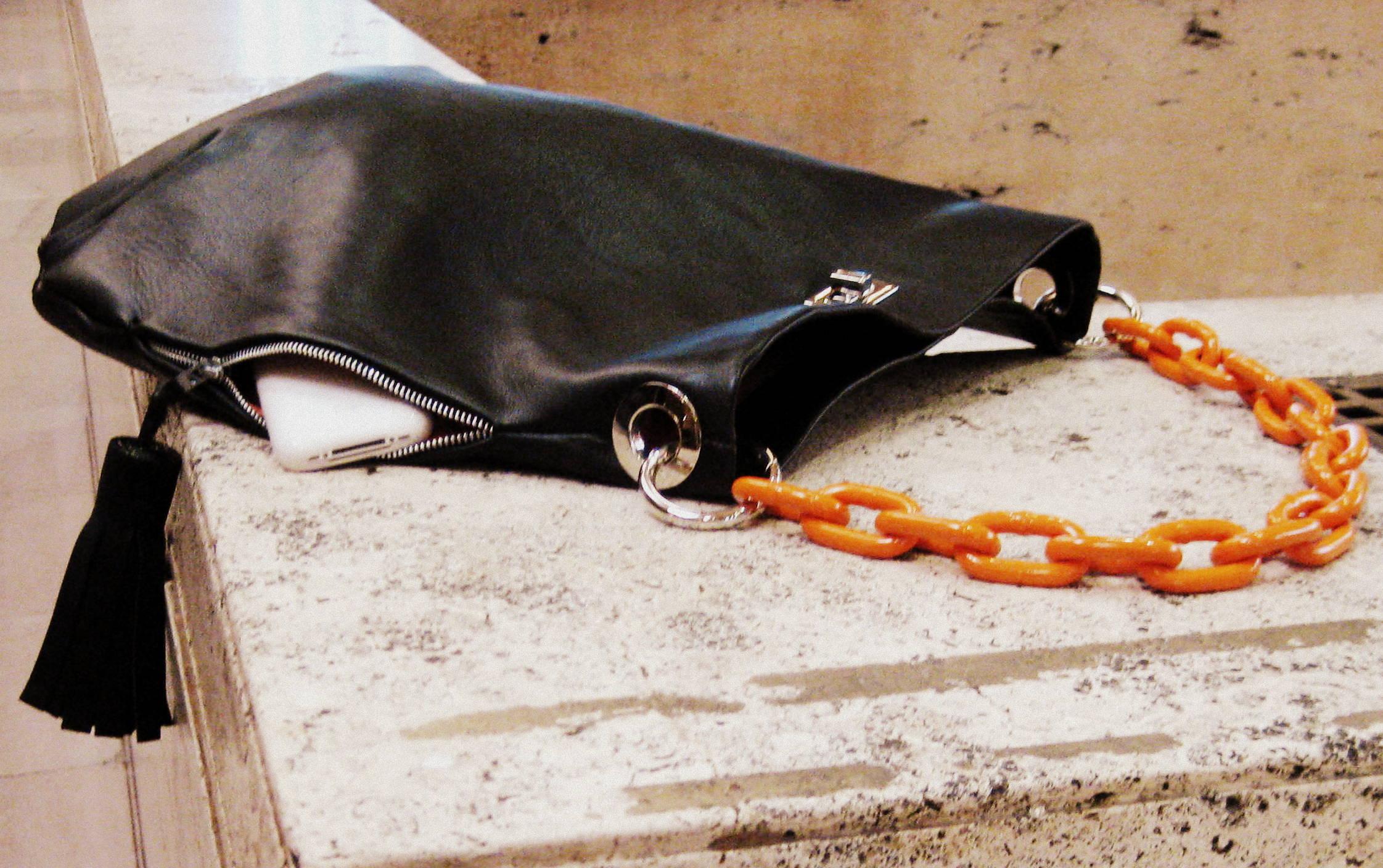 c HARDWEAR Chain Hobo with phone conrad booker collection IMG_4555 b - Copy.JPG