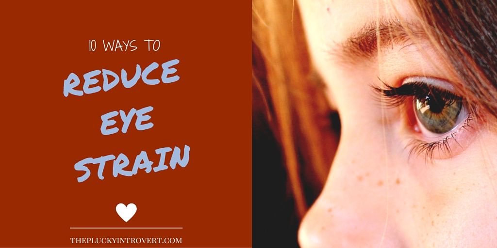 I just love these super simple ways to help with eye strain symptoms!
