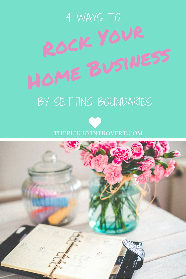 Super helpful tips on setting boundaries at home when you're working!!