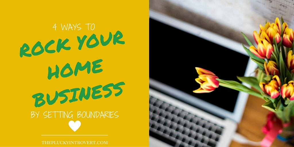 Great ideas on setting boundaries at home when you're working!