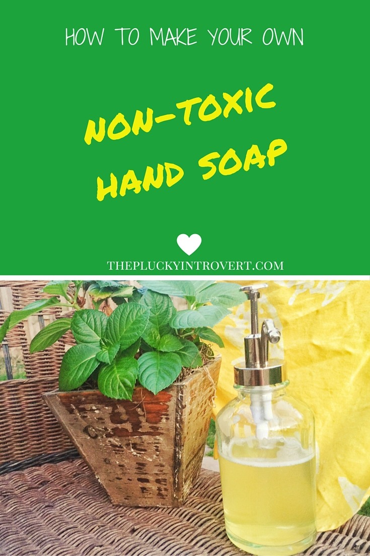 Super easy non-toxic hand soap recipe. Going to make this tonight!