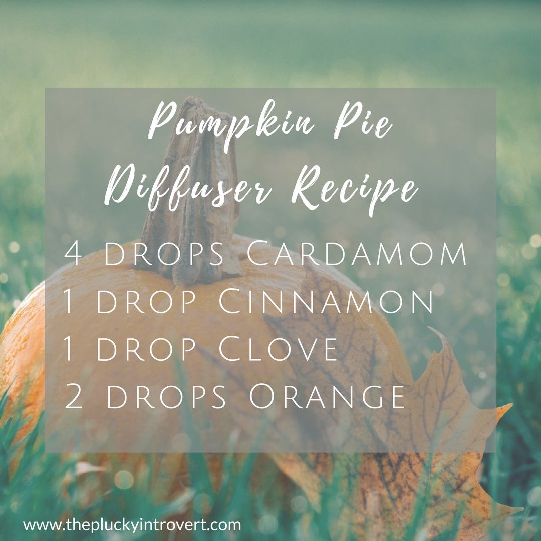 This pumpkin pie essential oil recipe smells so good for fall!