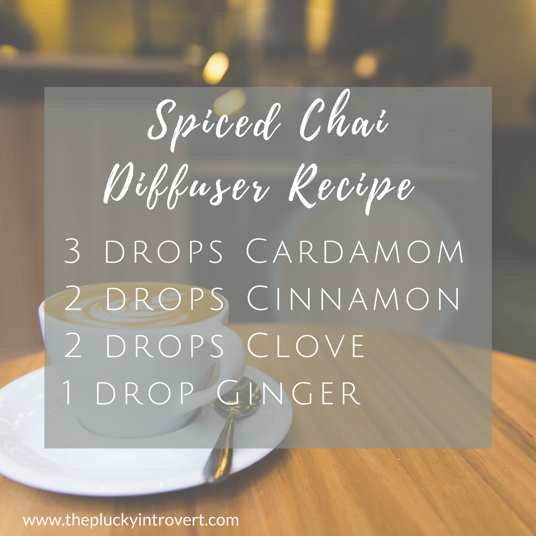 I'm loving this Spiced Chai essential oil diffuser recipe...it puts the smell of autumn in the air!