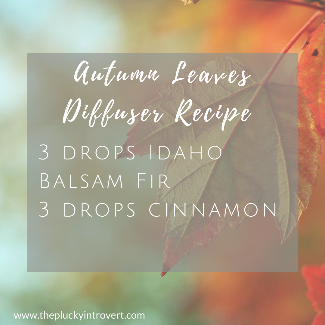 This fall diffuser recipe smells just like autumn leaves!