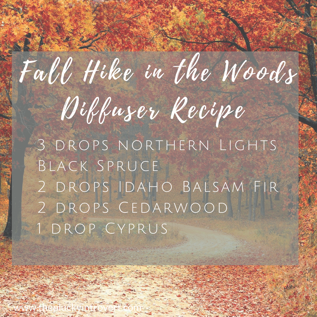 Autumn diffuser recipe that smells just like a fall hike in the woods! I love this!