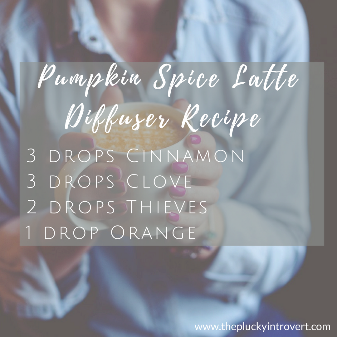 Pumpkin spice latte in the diffuser, anyone?? This blend totally makes my house smell like PSL!!