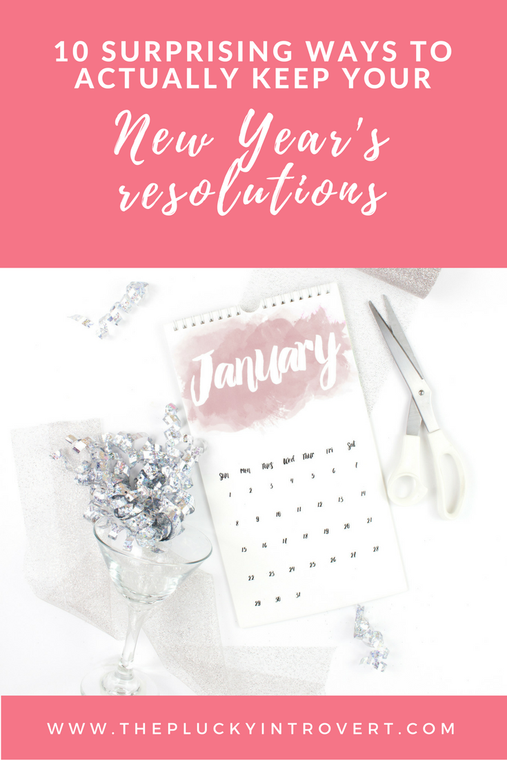 Love these ways to actually keep your New Year's resolutions. I know I have a hard time sticking with mine. Pin now for next year!