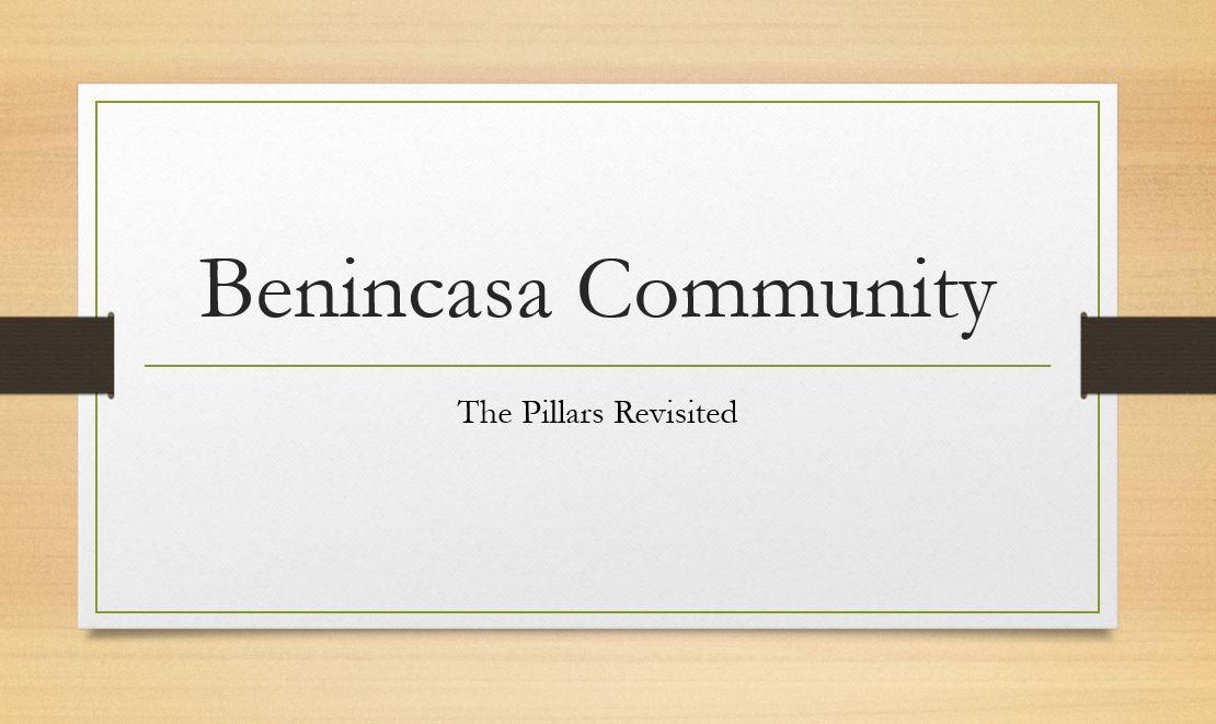 Benincasa Community Pillars Presentation and Information