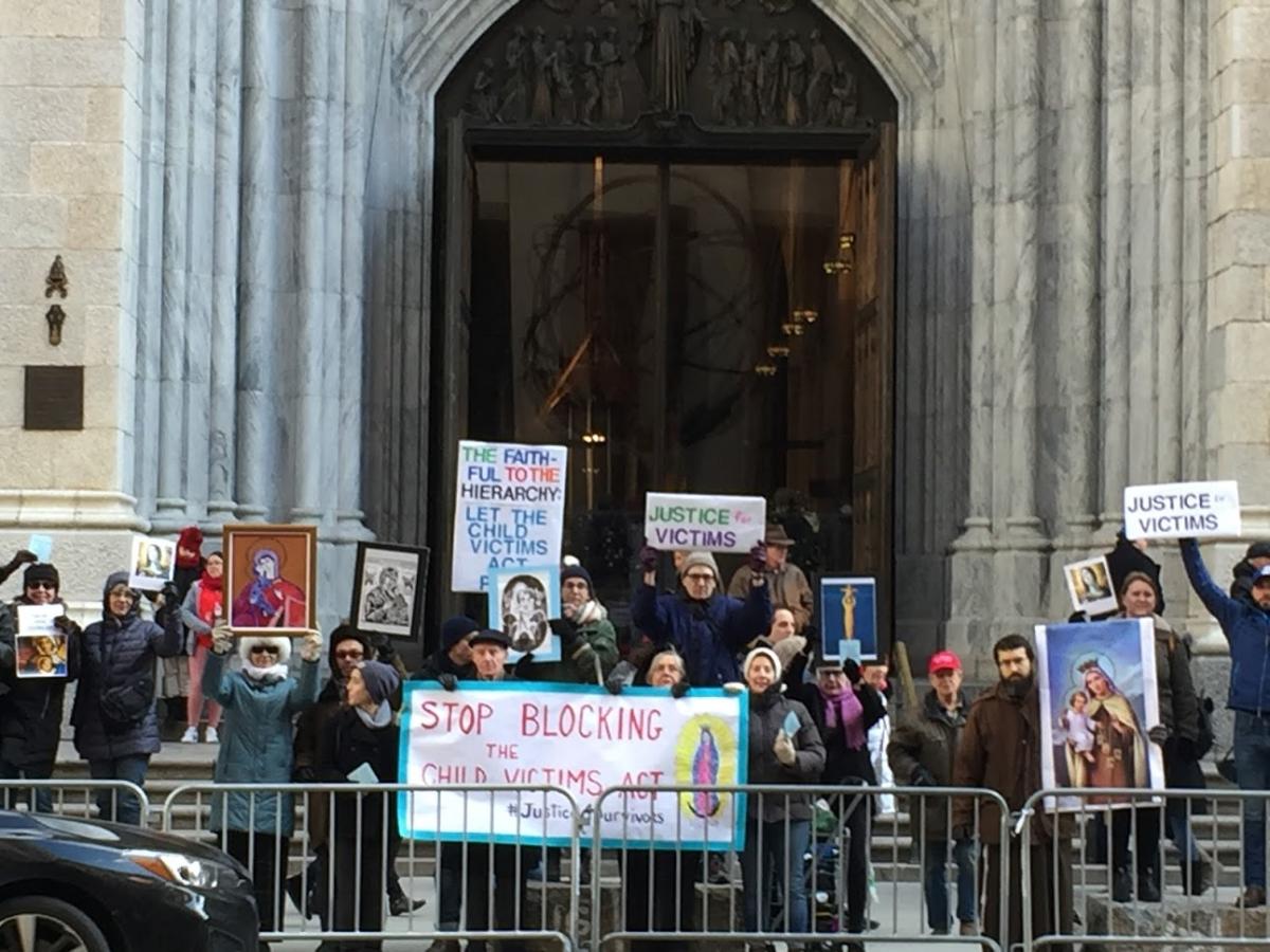 CVA Vigil in front of St. Patrick's Cathedral