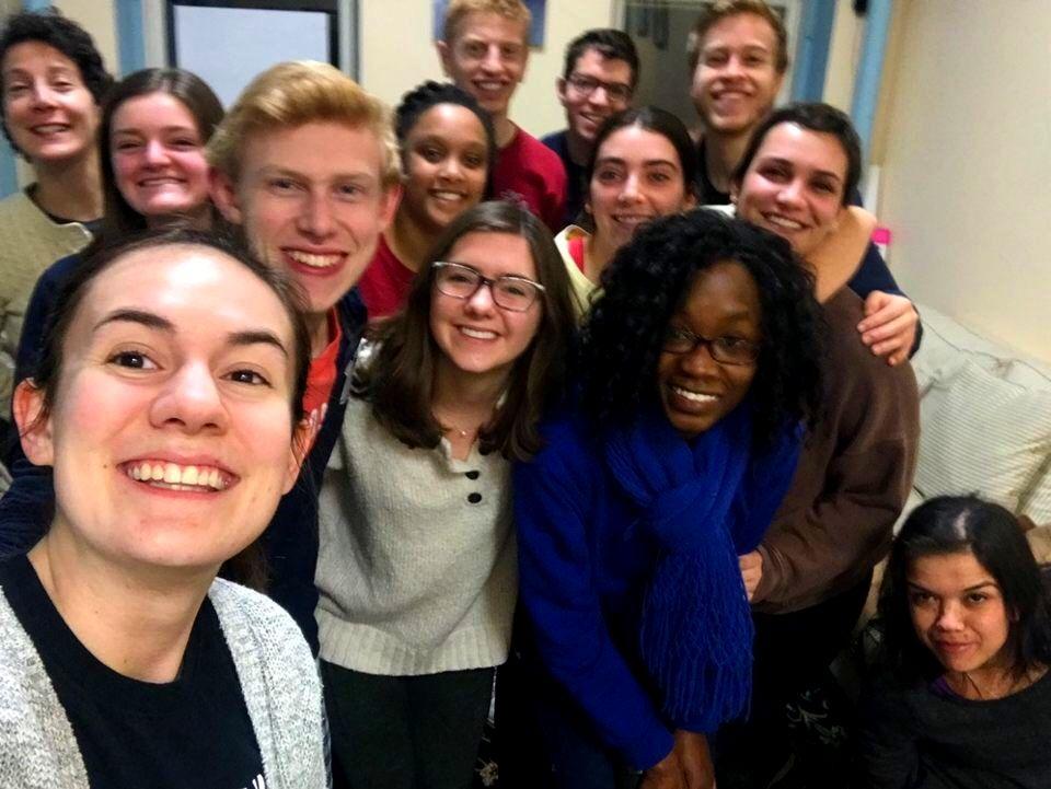 Xavier Univ. Students in the Dan Berrigan Center