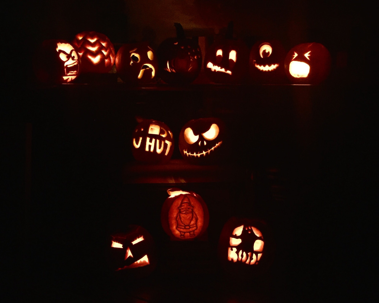 It may still be 80 degrees in Savannah, but fall festivities are in full swing!! I carved my first pumpkin ever last night… guess which one is mine!  (psst it's the Mike Wazowski)