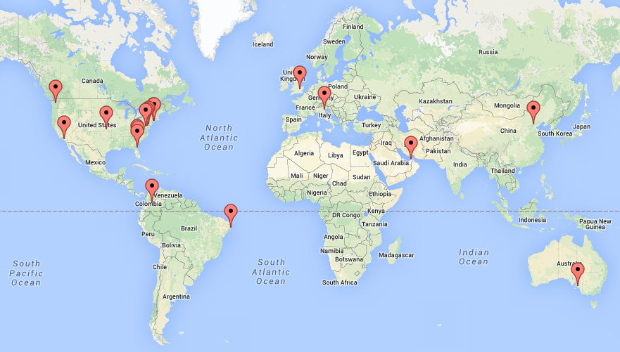The visitors map on my website has been blowing up recently. Hello viewers from all over the world!! Thank you for stopping by!