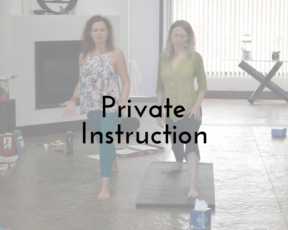 "- 15 weeks, customized private instruction: $2,850 per individual client15 weeks, customized semi private instruction: $1,625 per additional client,up to 4 people (great for partners, two couples, or small adult families who want to practice together and are willing to practice on their own/together between sessions)Includes ☀15 weekly lessons — 2 hours each, in-person on location☀Personalized instruction with special support and individualized modifications tailored to meet your unique needs☀All yoga props necessary for practice and comfort during lessons☀A stylish yoga journal & pen set☀Personalized yoga manual with ""habit tracker"" and instructional handouts☀A resource list to keep you motivated and inspired☀Clear yoga homework assignments for between sessions☀Personalized video/audio instruction based on what you are personally learning to support your practice between sessions☀May also include written recipes and inspirational musings to support your whole lifestyle☀Lifetime discounted VIP rate for Seasonal Yoga Retreat Days and e-courses☀3 Magareeshi Teas (flavors gifted monthly throughout our session"