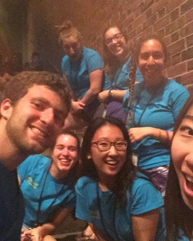 "Here at Brandeis, First-Year Orientation isn't just for the incoming students - the Orientation Leaders have a blast, too! I had the privilege of being an OL this past fall and I'm looking forward to being one again this upcoming fall. Here are a few OLs in action (I'm the one on the bottom left next to the boy). This #selfie was taken during one of the more powerful events called ""This Is Our House,"" in which students are empowered in their own identities and officially welcomed into the #BrandeisFamily. Celebration of everyone's own intersectionality is something we take extremely seriously at Brandeis...along with really good selfie taking skills😎😎 ~DLB"