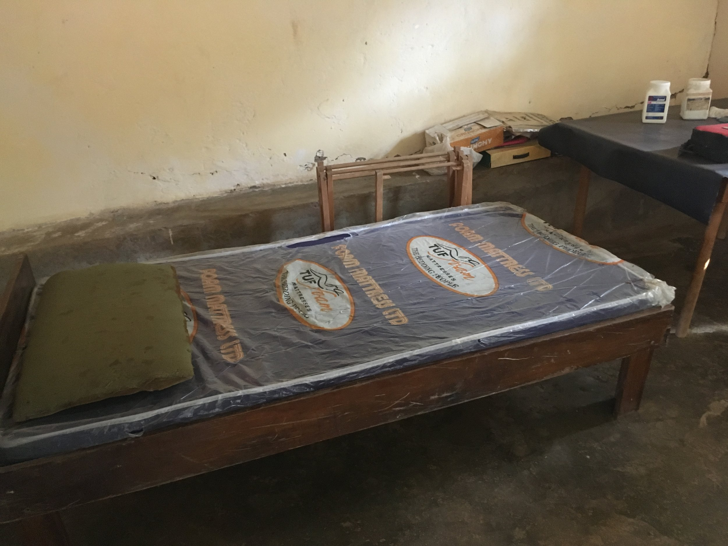 The medical room where Jesus sleeps on days that he is unwell currently.