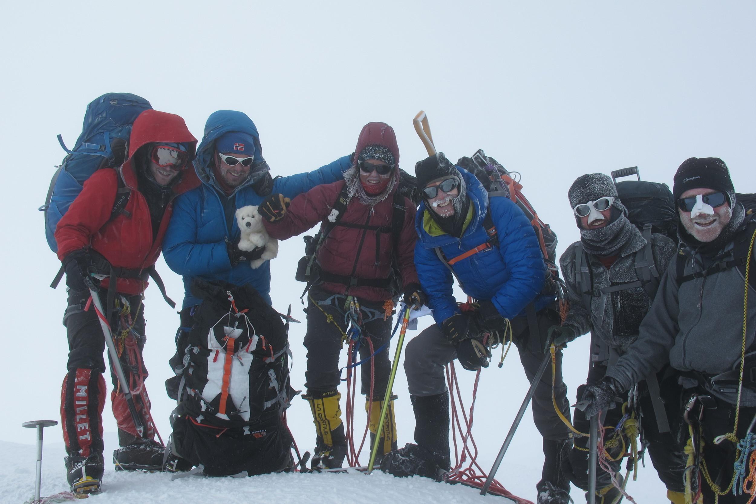 Group shot at the summit!