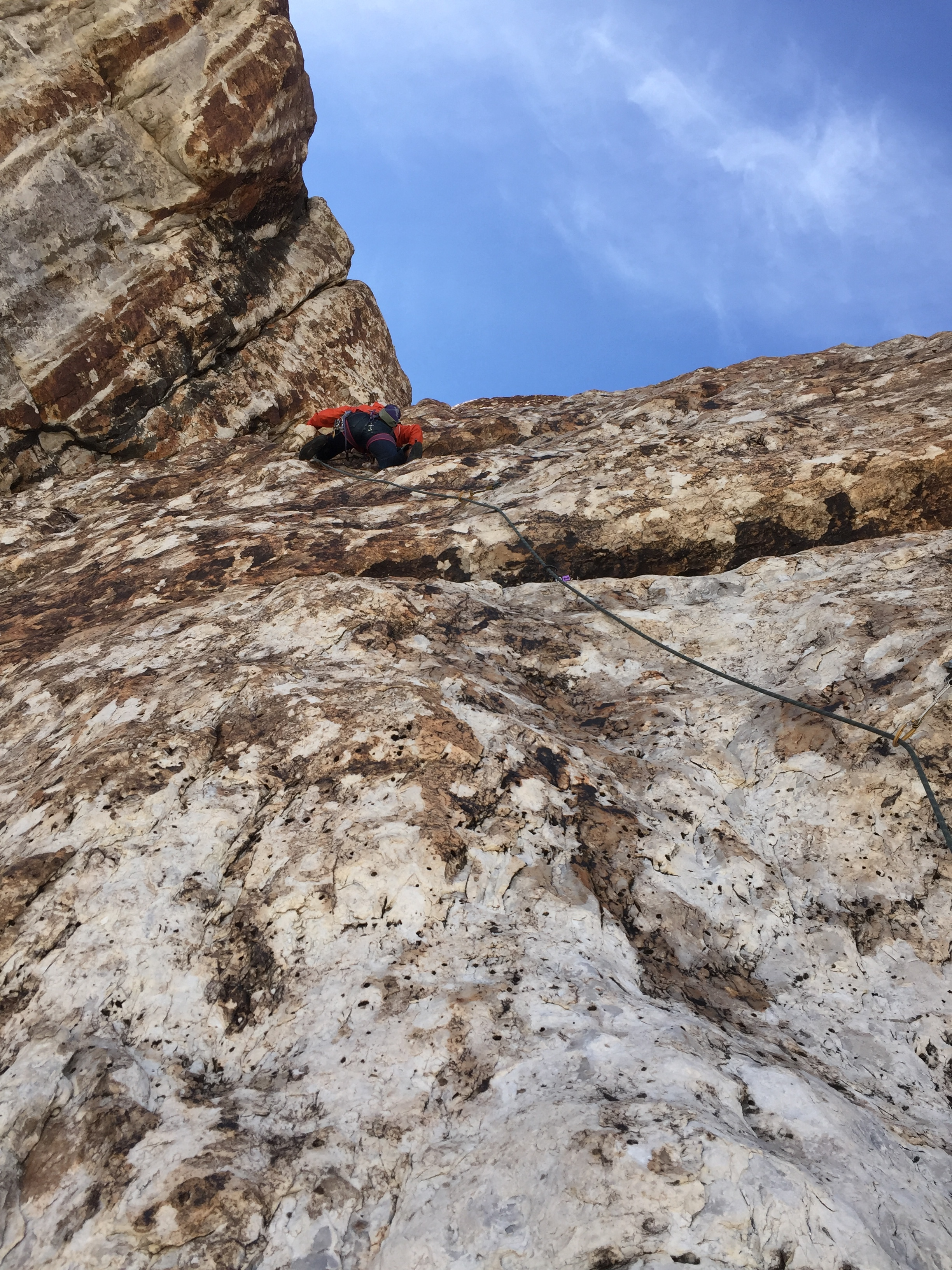 Here I learn to climb 511 slab.  the ibex way.   Its always so cool to climb in a place you've never been, its even more fun when your partner hasn't done it either . woop whoop!