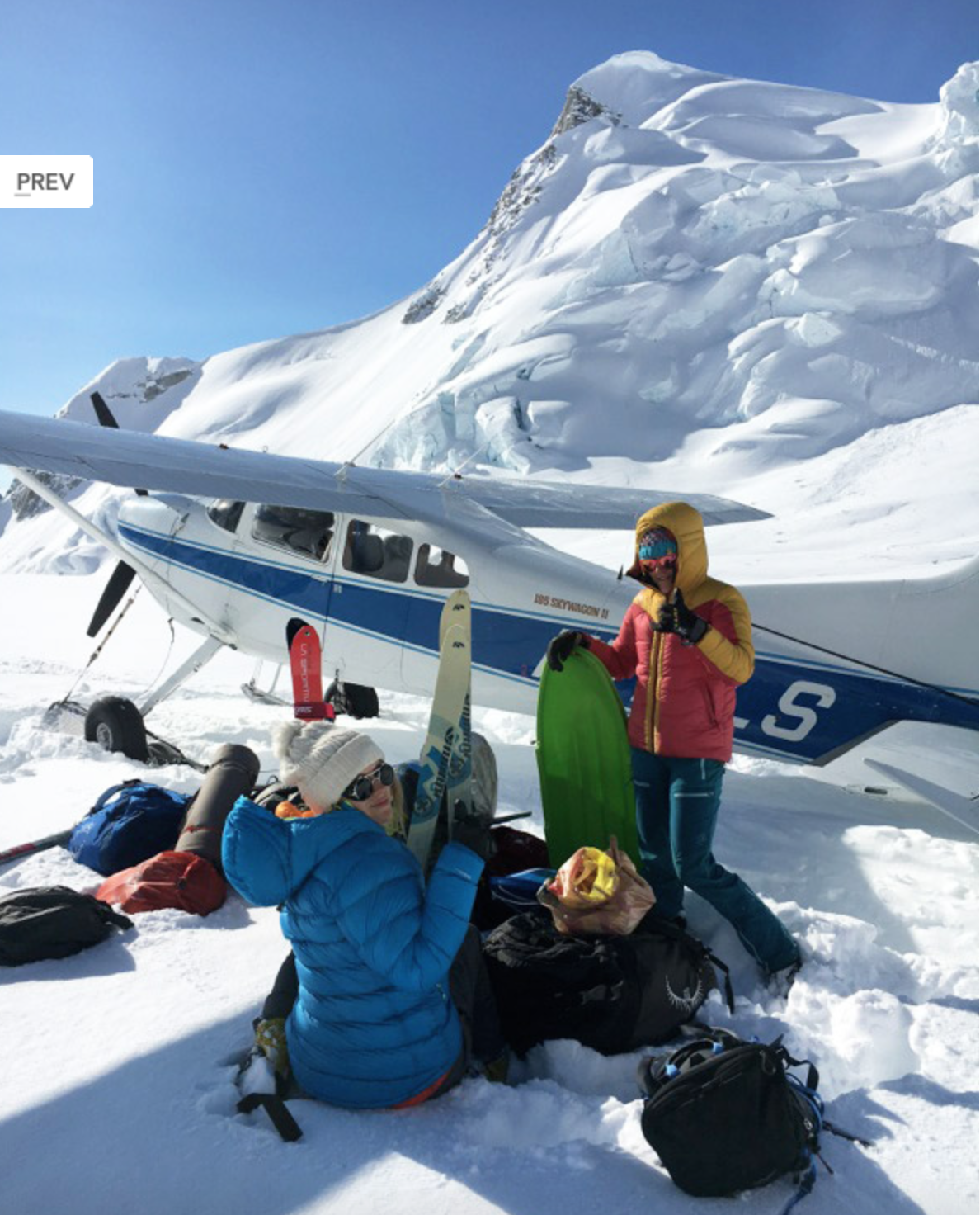 Total BADASS and CEO of Tok Air Service, Zak Keenbel flew us safely to our glacier.